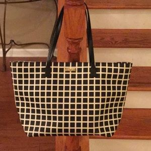 ♠️ Kate Spade checkered Saffiano leather tote♠️